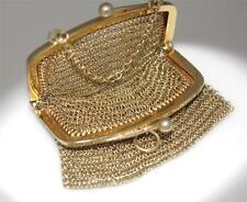 Vintage Sterling Silver Chatelaine Mesh Purse / W 782
