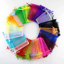 50PCS Mixed Sheer Organza Wedding Party Favor Gift Candy Bags Jewelry Pouches