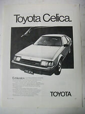 1983 TOYOTA CELICA HATCHBACK AUSTRALIAN MAGAZINE FULLPAGE ADVERTISEMENT