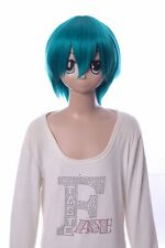 W-10-f7 VERDE GREEN 33cm Cosplay Parrucca Wig Perruque CAPELLI HAIR ANIME MANGA