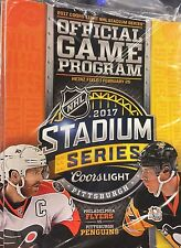 2017 STADIUM SERIES PITTSBURGH PENGUINS PHILADELPHIA FLYERS PROGRAM RARE 2/25