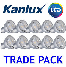 10x Kanlux PRO GU10 Spot Light Bulb LED 7W 120 Degree Lamp 2700K Warm White
