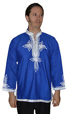 Moroccan Cotton Tunic Shirt African Kameez Unisex Caftan Dress Casual Top Blouse