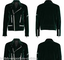 MARC JACOBS Green VELVET Moto Biker Jacket Ita50/Uk40 Made In ITALY BNWoT