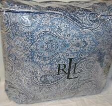 Ralph Lauren TOWNSEND BLUE PAISLEY Full/ Queen Comforter WITH ROPE TRIM COTTON
