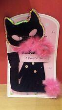 Noir/rose chaud enfants cat fancy dress set costume (3-8 ans) lucy locket