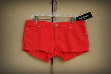 NWT TRUE RELIGION JOEY CUT OFF Size 32 Hot Mini Denim Short Shorts $169 Red