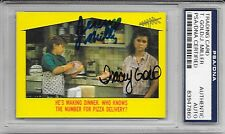 TRACEY GOLD & JEREMY MILLER Signed 1988 TOPPS Growing Pains CARD #47 Seaver PSA
