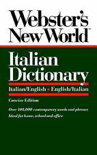 Webster's New World Italian Dictionary: Italian/English, English/Italian by