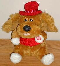 "Dan Dee PUPPY DOG animated musical singing 11"" plush Valentine's Day"