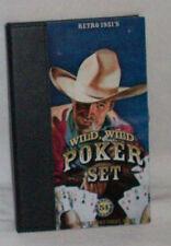 WILD WILD WEST POKER SET RETO 1951 51  2 DECKS IF CARD & 5 DICE IN WOODEN BOX