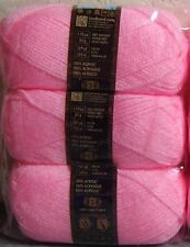 Lot of 3 Skeins!! ~ Lion Brand Jamie Beautiful & Soft Baby Yarn - Powder Pink