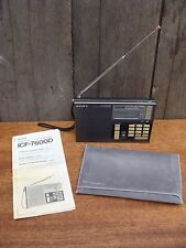 1980s SONY ICF-7600D FM LW MW SW Synthesized Receiver Radio 153-29995 khz