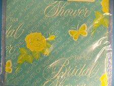 Vintage Bridal Shower Giant Sheet American Greetings Gift Wrap New