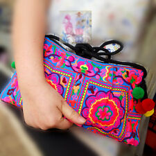 Colorful Hmong Bag Hill Tribe Handmade Thai Crossbody Purse Ethnic Hippie Boho