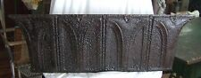 ANTIQUE Roof Tin Tile Shelf 3 FT Metal Black & Rust *See our Videos* Gothic