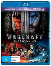 Warcraft - The Beginning 3D & 2D (Blu-ray, 2016, 2-Disc Set) Brand new & sealed