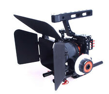 DSLR Video Stabilizer Cage+Follow Focus+Matte Box for Sony A7 II A7RII A6300/GH4