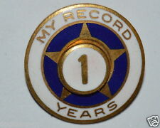 "WOW Vintage ""My Record"" Safe Driver? 1 Year Gold Star Lapel Pin Sales Award?"