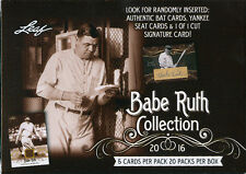 2016 Leaf Babe Ruth Collection Trading Cards Sealed Box