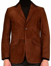 K. Punto Rosso by KITON Brown Suede Leather Blazer Jacket EU 50 NEW US 38 40