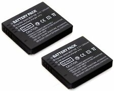 2x Li-ion Battery for Panasonic Lumix DMC-FX700 DMC-TS1 DMC-TS2 DMC-TS3 DMC-TS4