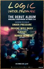LOGIC Under Pressure 2014 Ltd Ed RARE Poster! CHILDISH GAMBINO BIG SEAN WEEKND