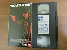 VINTAGE VHS Video Tape Death Wish Movie Charles Bronson Paramount