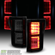 Black Smoke 2015-2017 Ford F150 LED Light Bar Tail Lights Brake Lamps Left+Right