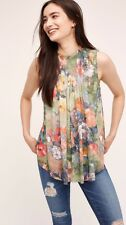 NWT Anthropologie Epona Swing Top Size XS Flowers By Deletta