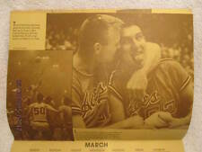 1986 Wall Calendar Promotes Evansville IN W/Photo Jerry Sloan, P-47, 1937 Flood