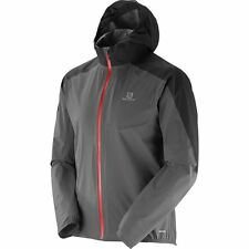 Mens New Salomon Bonatti WP Jacket Size Small Color Galet Grey