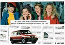 PUBLICITE  1994  CHRYSLER  VOYAGER  TURBO DIESEL  (2 pages)