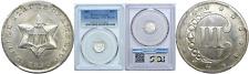 1851 3CS Three Cent Silver Piece PCGS Genuine Env. Damage UNC Details