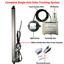 """Solar Tracking Tracker Single Axis Kits &16"""" Linear Actuator &Controller &Remote"""