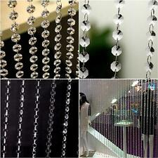 Beaded String Curtain Door Divider Crystal Beads Tassel Screen Panel Home Decors