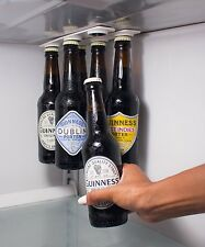 Magnetic Beer Bottle & Jar Hanger For Fridge, Organize w/ Magnet Holder Strips