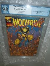 Rare Blue Foil Wolverine #1/2 PGX 9.8 Graded Marvel Comic Special Wizard Edition