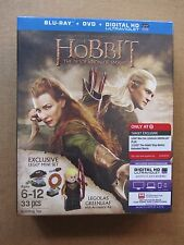 THE HOBBIT: DESOLATION OF SMAUG~BLU RAY~DVD~w/LEGOLAS GREENLEAF~LEGO~MINIFIG~NEW