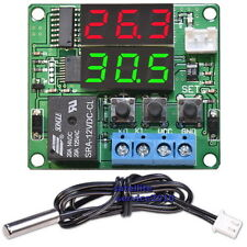 W1215 Termostato Digitale con Display e Sonda Esterna 12V Controllo Temperatura