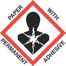4 inch x 4 inch GHS Health Hazard Paper Labels - roll of 500
