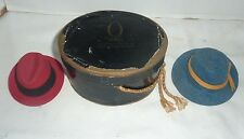 Vintage Miniature Hats and Box,The Outlet Co.Providence R.I.