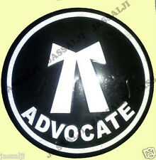 Advocate Logo Label Reflective Sticker for Car,Glass Doors,Offices Decor,Bike