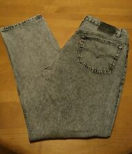 Vintage 1980s  LEVIS 501 BLACK ACID Wash Jeans 38x30 USA MADE Act 36x30