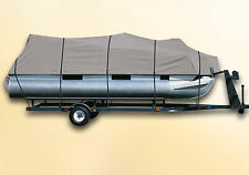 DELUXE PONTOON BOAT COVER Palm Beach Marinecraft 220 Family CastMaster Tri-Toon