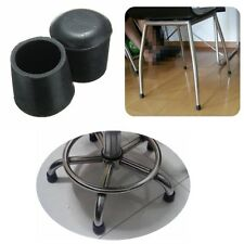 4 pcs Black Rubber Chair Table Feet Pipe Tubing End Blanking Cover Caps 22mm