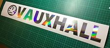 Holographic 'oil slick' Vauxhall Window Vinyl Sticker Graphic Corsa Astra Vectra