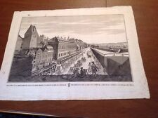 ANTIQUE PRINT -  OPTICAL VIEW - Viena  Published By G.B.  Probst 1760