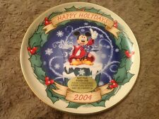 Sorcerer's Apprentice Christmas 2004 Plate Disney's Through The Years Collection
