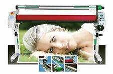 """New 1630mm 64"""" Hot Cold Laminator Roll Laminating Heat Assistance+Auto Take Up"""